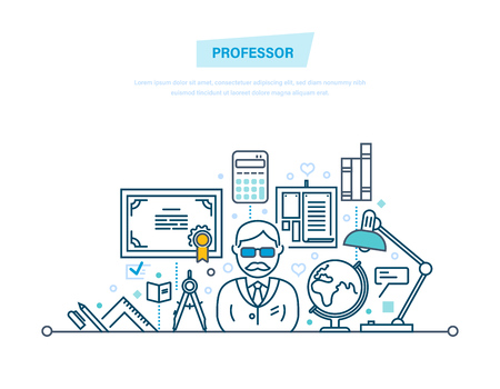 Professor, education. Tasks planning for academic year, schedule of classes.