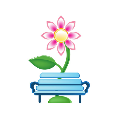 Flower and bench icon.