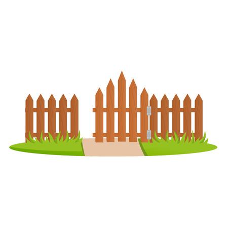 Decorative wooden fences.