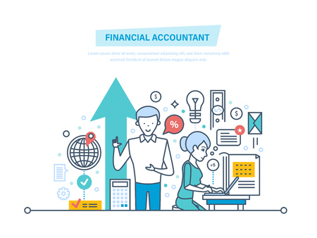 Financial accountant. Financial workers. Analyzing, accounting finance statistics, audit.