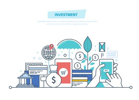 Financial smart investment. Vektorové ilustrace