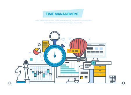 Time management, planning, organization of working time, work process control.