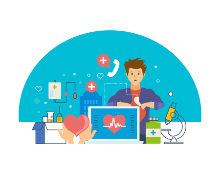 Monitoring heartbeat. Service, healthcare, medicine, doctor, special tools, atmosphere.
