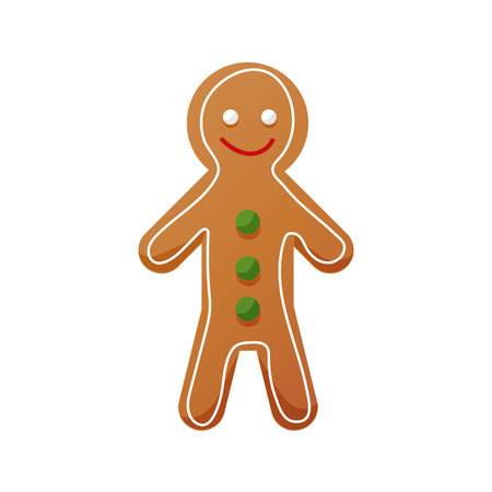 Christmas sweets, food, sweet gingerbread icon. Homemade pastries for tea.