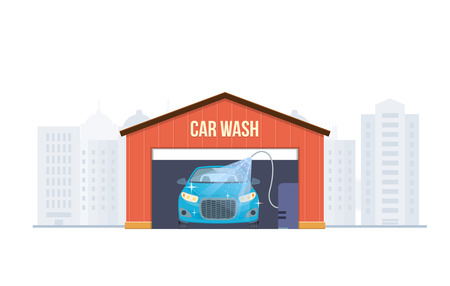 Car wash concept signage design.