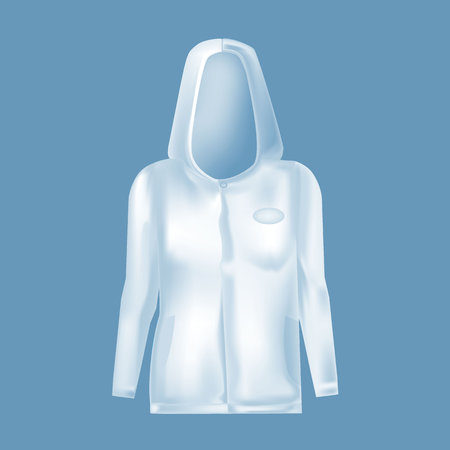 Mockup of women s clothes. Womens Jacket with hood, long sleeve. Illustration