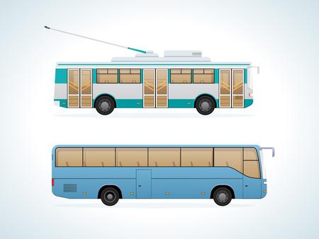 Passenger public urban transport: municipal trolley bus and intercity bus.