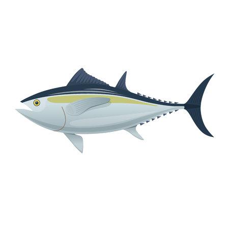 Colorful fish of sea tuna icon symbol vector illustration 向量圖像