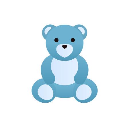 Modern colorful childrens toys. Cute funny teddy bear.