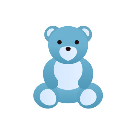 Modern colorful childrens toys. Cute funny teddy bear.
