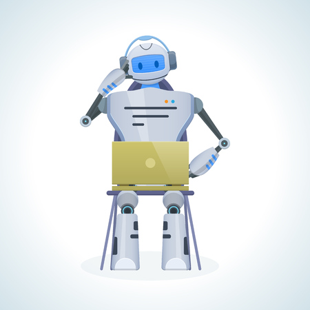 Electronic robot, chat bot, humanoid. Technical support, communication, social networking.