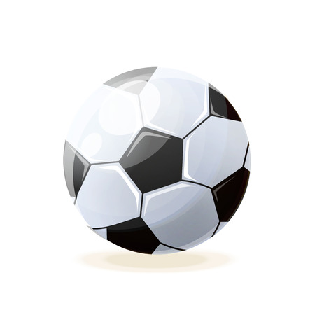 Beautiful realistic classic, soccer ball, for playing football. Illustration