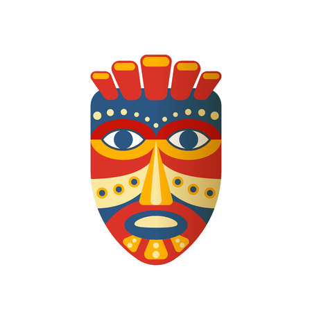 Mexican colorful ethnic mask. 일러스트