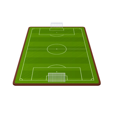 Soccer field vector royalty free cliparts vectors and stock 94989564 realistic football field template playground with green grass and landscapes maxwellsz