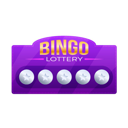 Bingo game with numbers, balls. Lottery ticket for drawing money Vectores
