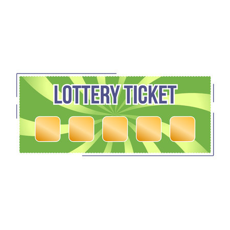 Lottery ticket for drawing money and prizes. Lottery luck, fortune. Stock Vector - 94858283