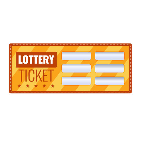 Lottery ticket for drawing money and prizes. Lottery luck, fortune. Stock Vector - 95016421