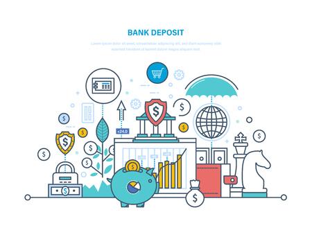 Bank deposit. Financial bank, savings, money growth in bank deposits.