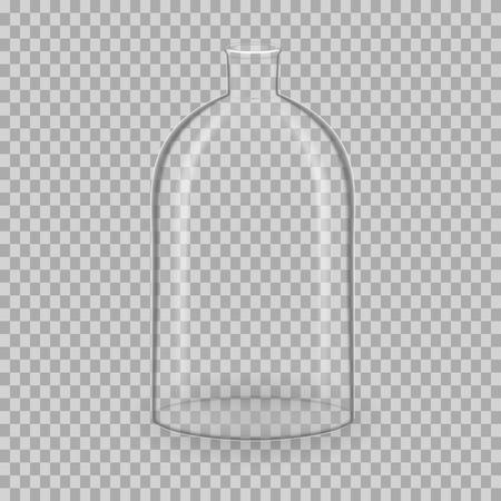 Scientific glassware, test tubes. Realistic templates, layouts, mockup. Illustration