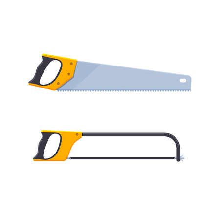 Set of hand saws designed for wood, saws for metal.