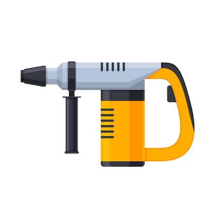 Working tool for construction, carpentry repair work. Electric hammer drill.
