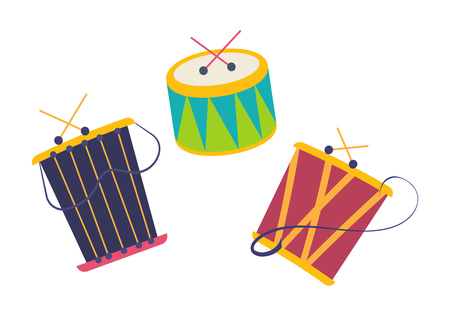 Carnival, masquerade, party and festive accessories. Children music toys.