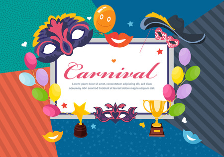 Carnival picture frame card design  イラスト・ベクター素材