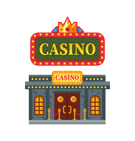Modern architectural casino building icon