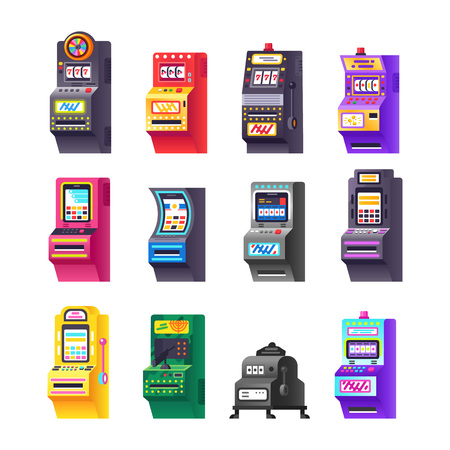 Set slot machine, electronic virtual game with making points, bonuses.