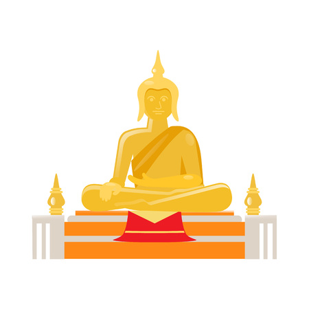 Buddha gold statue, concept of state of spiritual perfection.