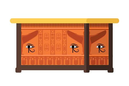 Egyptian tomb, burial building, ancient sarcophagus, landmark, museum piece.