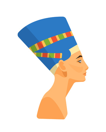 Bust, head of the ancient Egyptian queen Nefertiti.