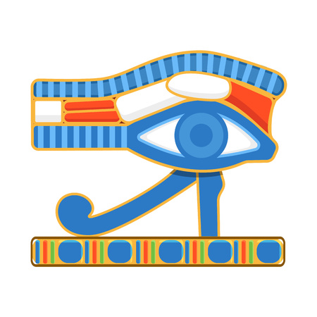 Ancient Egyptian symbol of protection, left falcon eye of Horus. 写真素材