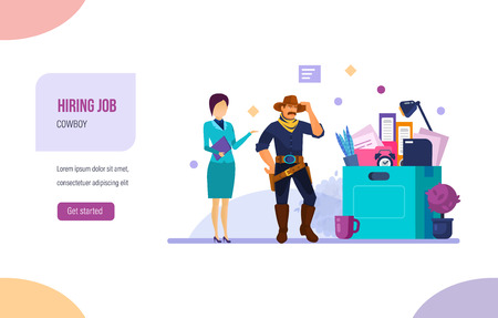 Hiring job, human resource recruitment. Search candidate for vacancy job.
