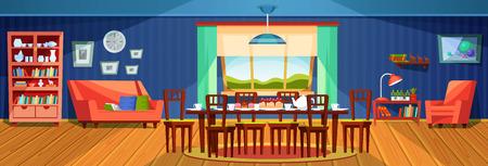 Interior de salón de verano acogedor, con muebles tapizados, accesorios.