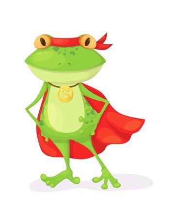 Superhero animal kids with a superhero cape and masks Illustration
