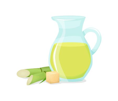 Fresh squeezed sugar cane in a jug