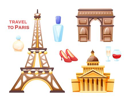 Concept of travel to Paris, the sights of France.