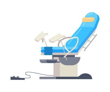 Hospital medical equipment gynecological chair vector cartoon isolated