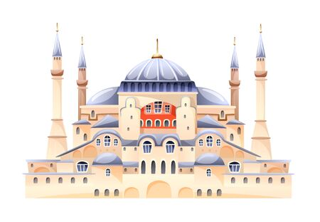 Saint Sophia Cathedral Byzantine art monument vector