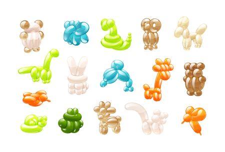 Animal balloons toys set cartoon for kids Foto de archivo - 133683924
