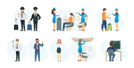Commercial flight board crew, air traffic controller, ground support technician
