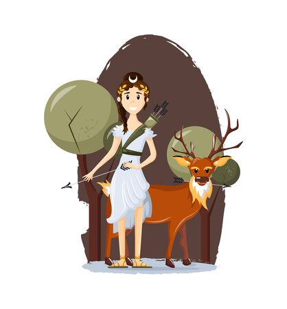 Greek goddess of Olympus, goddess of forests and hunting.
