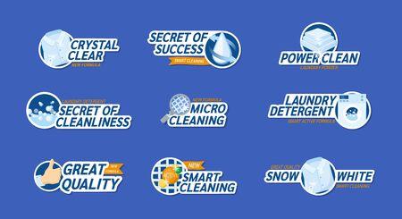 Advertising of clean linen, detergent, washing powder vector
