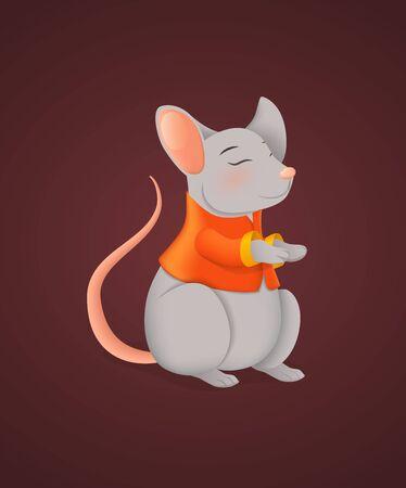 Rat symbol of Happy Chinese New Year 2020 Year
