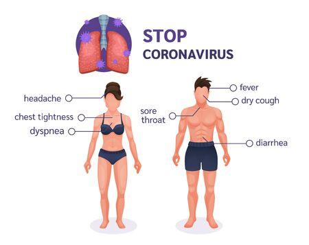 Coronavirus. Coronavirus pandemic COVID-19 vector Vector Illustration