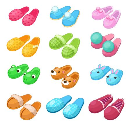 Home footwear - pairs slippers, textile domestic garment clothing soft fabric.
