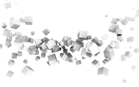 occlusion: 3d cubes Stock Photo