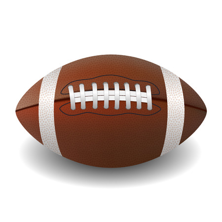 American Football ball isolated on white background  Stock Photo