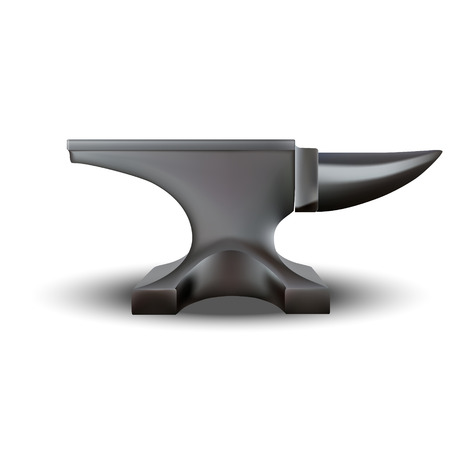 Anvil isolated on white background. photo